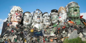 An Artist Makes a Giant Sculpture of G-7 Leaders Out of Electronic Waste
