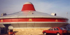 This UFO Spaceship McDonald's Used to Exist in Alconbury, England in the 1990s