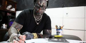 Brazilian Tattoo Artist Morphs Into Devil Look-Alike
