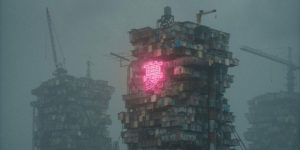 Our Dystopian Future in Dark Cyberpunk Artworks of Nagafujiriku