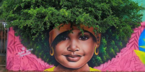 Brzilian Street Artist Goes Viral After Using Trees As 'Hair' For His Women's Portraits