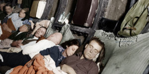 These Colourised Photographs Show How People Took Shelter in The London Underground in The 1940s