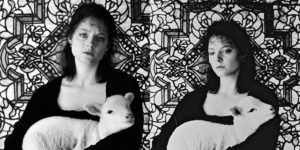 """Jodie Foster Holding a Lamb in a Promo Shoot for """"The Silence of the Lambs"""""""