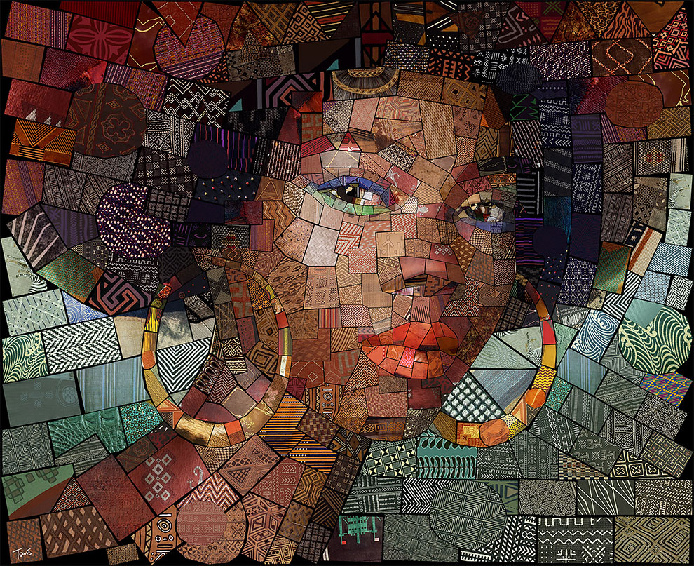 Image The Fantastic, Beautiful and Colorful Mosaic Portraits by Charis Tsevis