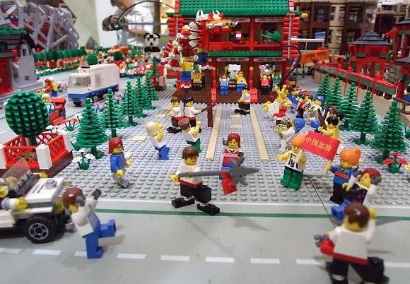 Lego Sports City Recreates 2008 Beijing Olympics